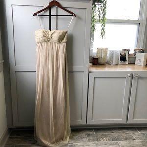 Gold Formal Empire Waist Maxi Dress